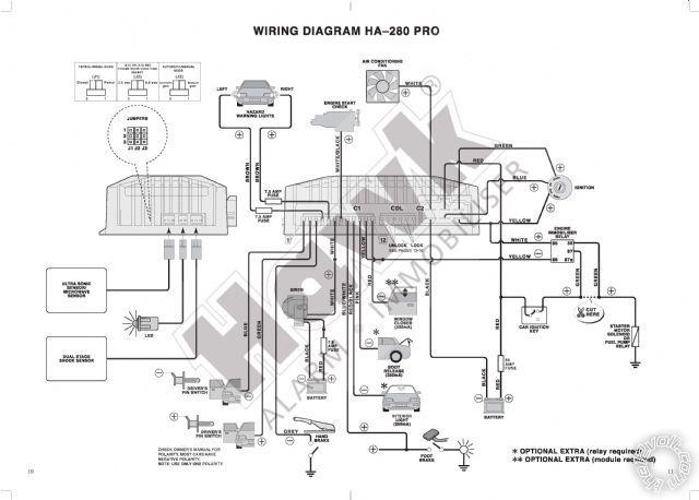 hawk car alarm wiring diagram