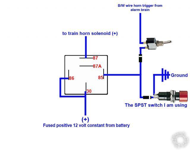 Horn Relay Diagram Alarm - Wiring Diagram Progresif