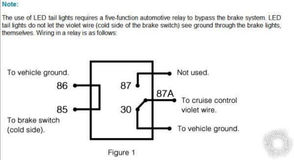 led third brake light relay