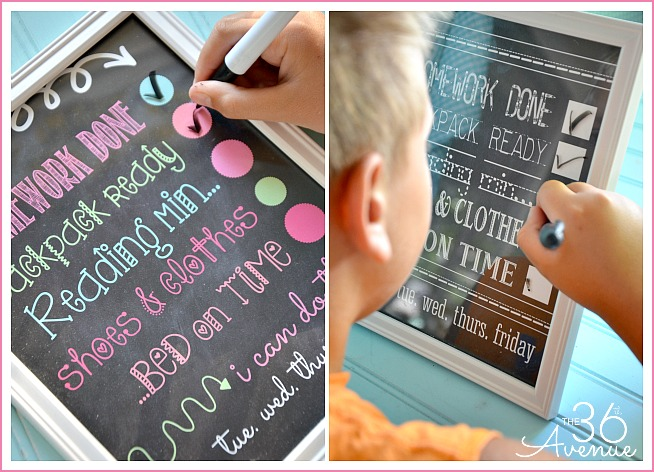 Back to School Chart Printable - The 36th AVENUE