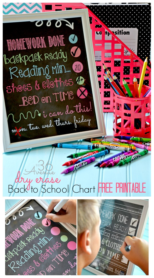 Chalkboard Fonts and Free Printable - The 36th AVENUE