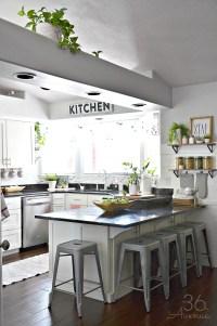 White Kitchen - Pink Kitchen Decor - The 36th AVENUE