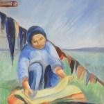 Leela Preparing Fish - 1959