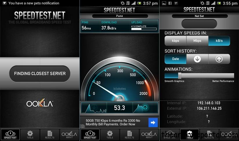 Check internet Speed From Any Android Device Speedtest.net   Test Internet Speed on Your Android Device
