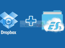 Dropbox with ES File Explorer