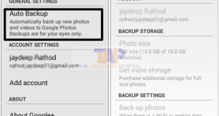 Disable Google Plus auto backup
