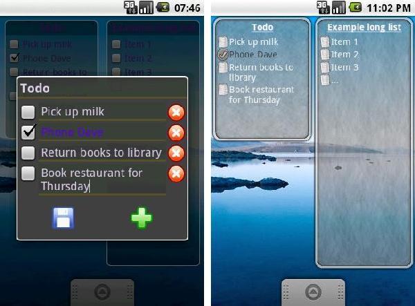 ToDo List Widget android app