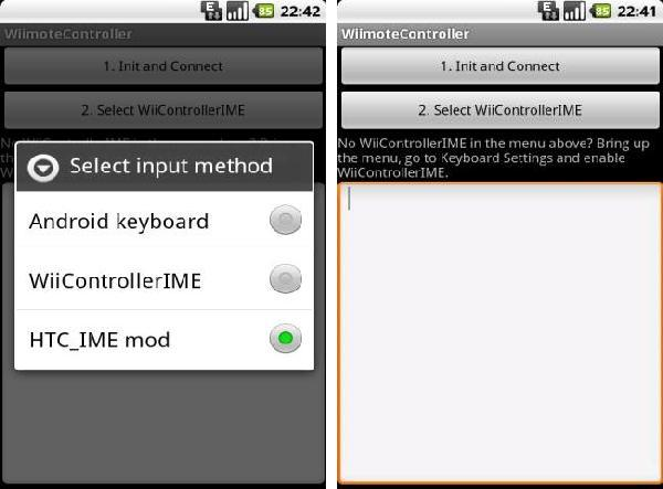 Wiimote controller android app
