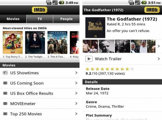 Android IMDb Movies & TV