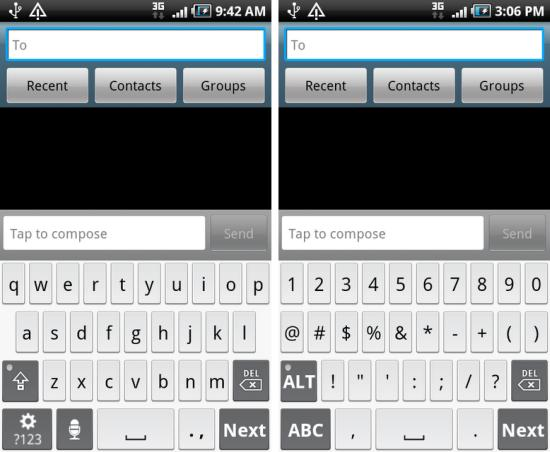 Droid X Multitouch Keyboard for Galaxy S