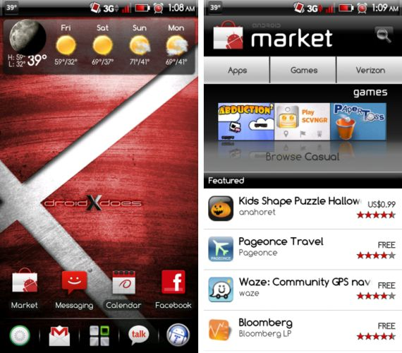 ProDX Red Theme for Droid X