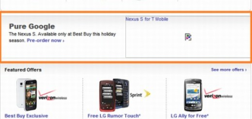 T-mobile Nexus Two Best buy Pre Order page