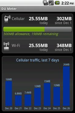 DU Meter Android App