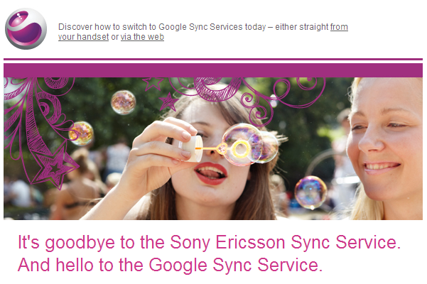 Sony Ericsson Closing Down their Sync Service