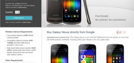 Galaxy Nexus on Play Store