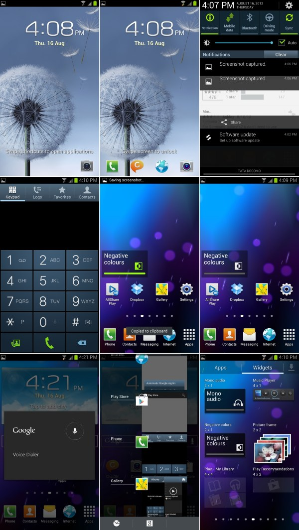 Galaxt S3 Android 4.1 Jelly Bean Screenshots