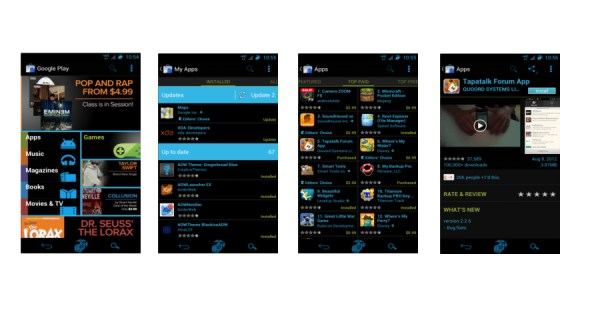 Inverted Black Google Play Store App