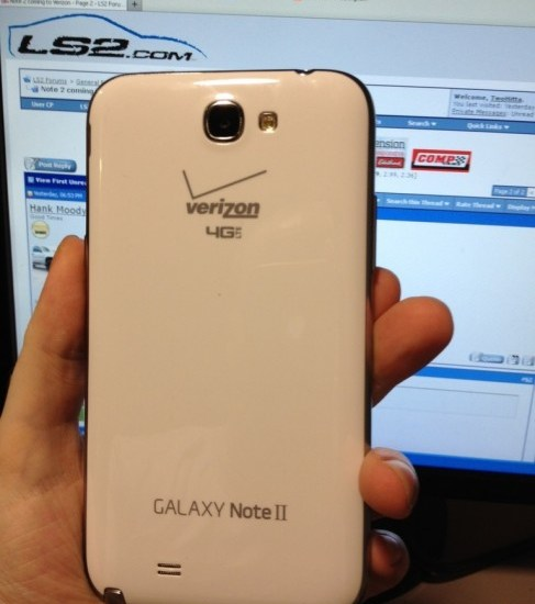 Verizon Wireless Galaxy Note 2