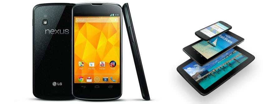 Nexus 4 and Nexus 10 UK