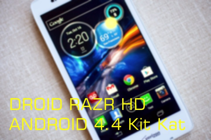 Droid RAZR HD Android 4.4 Kit Kat