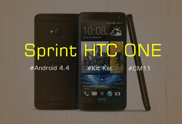 Sprint HTC ONE Android 4.4 Kit Kat CM11