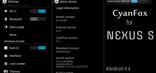 CyanFox Android 4.4 KitKat Update for Nexus S