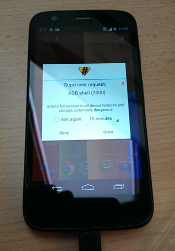 Moto G Rooted Proof
