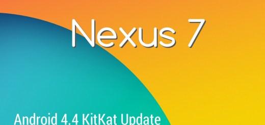 Nexus 7 Kitkat Update