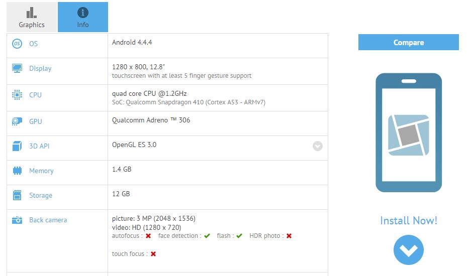 Galaxy Tab 4 8.0 SM-T333 Benchmarks