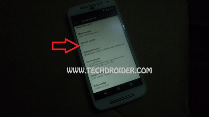 Moto G (2014) Android 5.1 spotted