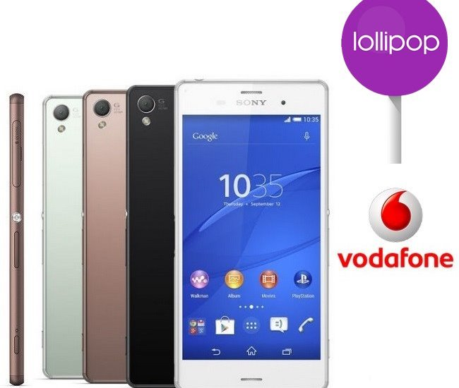 Vodafone Xperia Z3 Lollipop Update