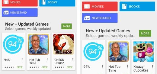 Left: Play Store version 5.3.6  |  Right: Play Store version 5.3.5