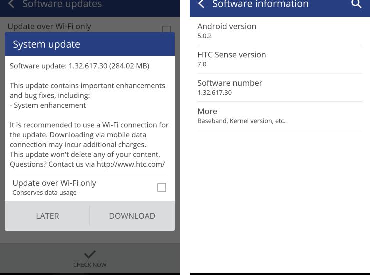 HTC One M9 OTA Update 1.32.617.30