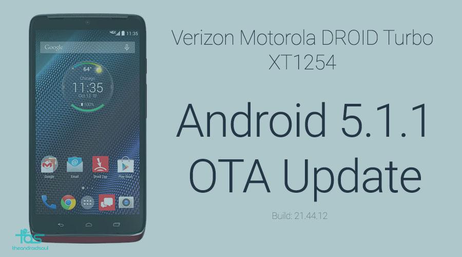 Droid Turbo Android 5.1.1 OTA update