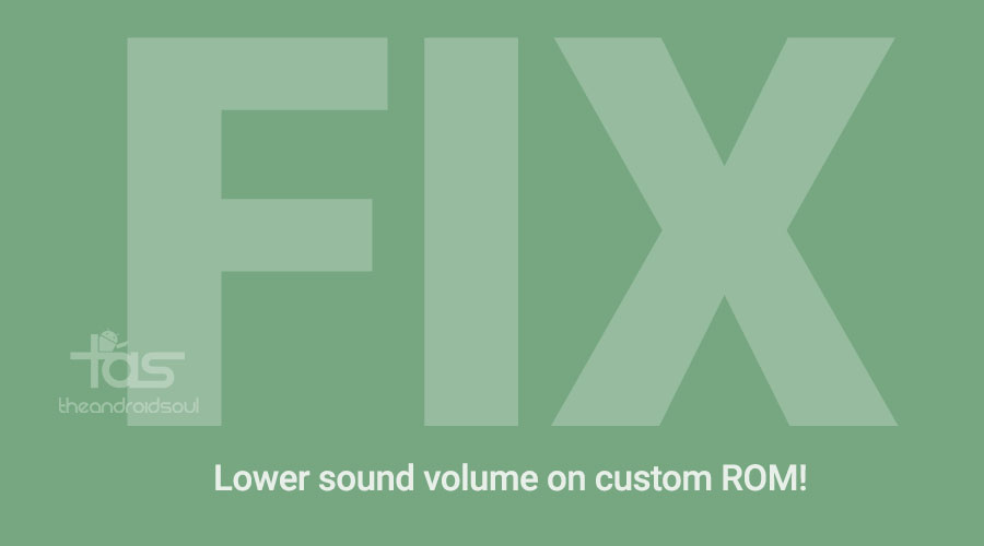 Low Sound Volume Fix