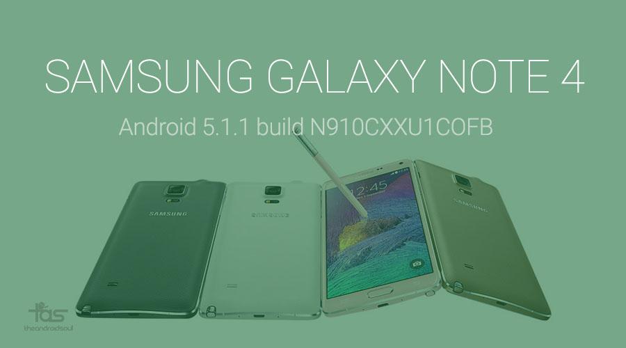 Samsung Galaxy Note 4 5.1.1 Update