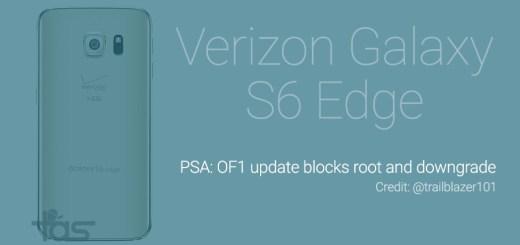 verizon galaxy s6 edge OF1 update downgrade problem
