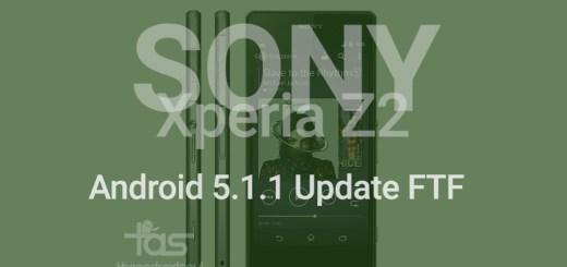 xperia z2 5.1.1 update ftf