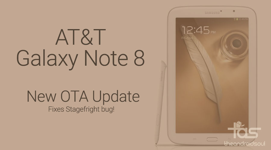 AT&T Galaxy Note 8 Software Update