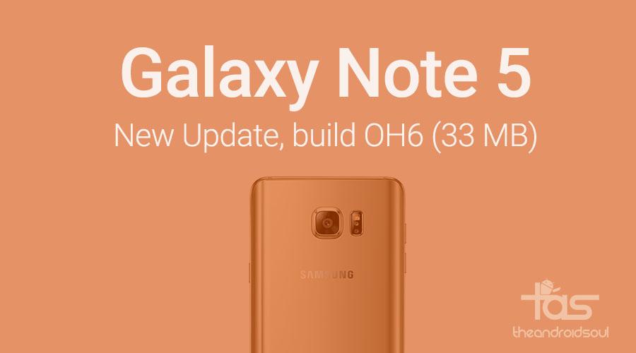 Galaxy note 5 update