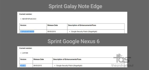 sprint galaxy note edge and nexus 6 update
