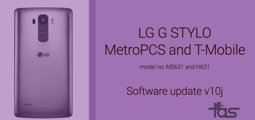 T-Mobile lg g stylo software update