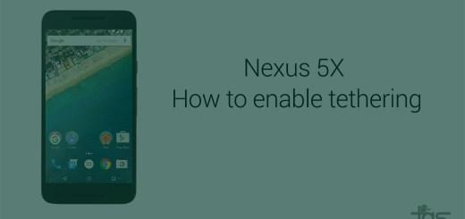 Nexus 5X tethering