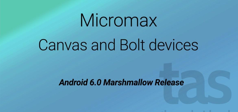 Micromax Marshmallow Release