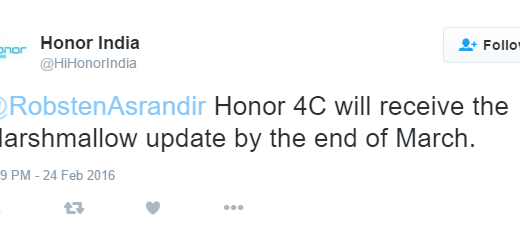Honor 4C Marshmallow update release