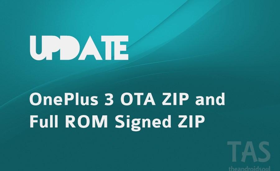 OnePlus 3 firmware rom and ota