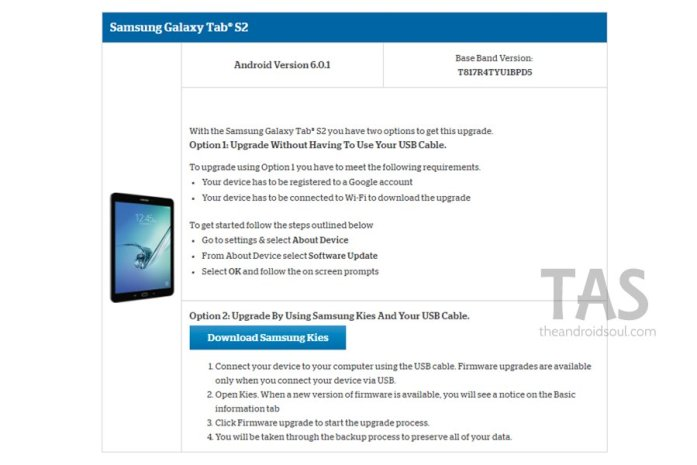 US Cellular tab s2 Android 6.0