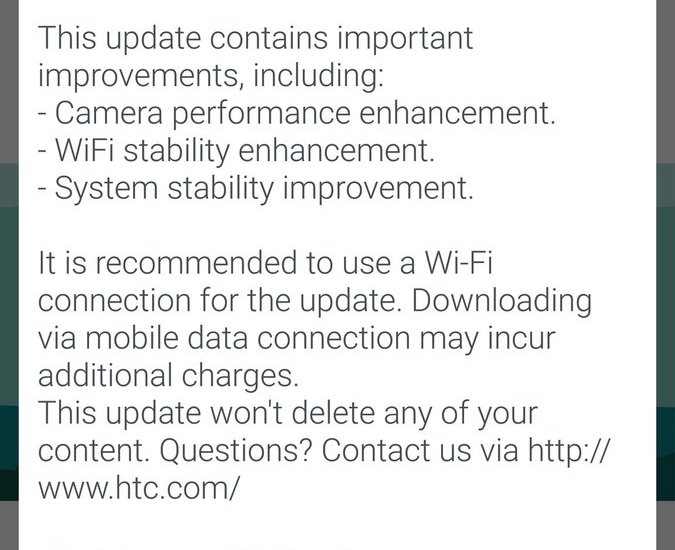 htc 10 camera update