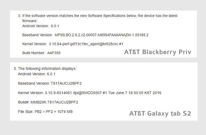 at&t android Marshmallow tab s2 priv