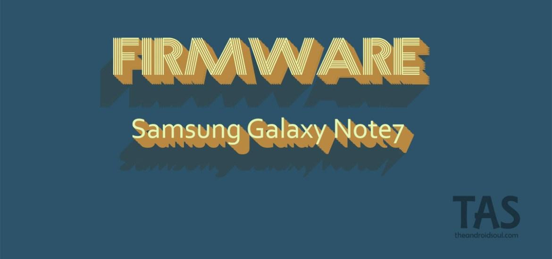 galaxy note 7 firmware